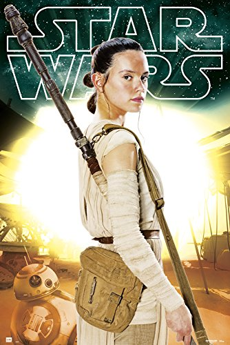 empireposter Star Wars VII Rey Episode 7 Poster Plakat Film Kino Größe 61x91,5cm, Papier, bunt, 91.5 x 61 x 0.14 cm