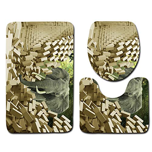 ZYT Weich, bequem, saugfähig, farbecht, leicht zu reinigen, dreidimensionale WC-Bodenmatte, Badezimmerteppich, Dl1193, 50 x 80 cm