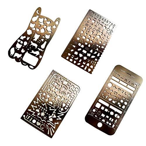 2 Seite Layout Kit - Yangyme Malform 4 Stücke Metallkugel Journal
