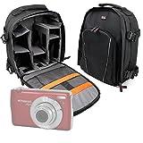 DURAGADGET Mochila Resistente Al Agua + Funda Impermeable para Cámara Polaroid DGT IS529, Sony DSC-RX100 V, Canon IXUS 285 HS, Inkint 24,0, Kodak Pixpro AZ251, Panasonic DMC-LX100EGK