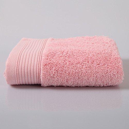 Unbekannt CHENGYI High-End aus Reiner Baumwolle Mikrofaser Dicker Handtuch Home Adult Kind weichen saugfähigen Waschlappen (2 Stück/Sets) (Color : Pink) - Kapuzen-badetuch/2 Waschlappen
