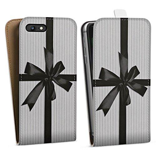 Apple iPhone X Silikon Hülle Case Schutzhülle Geschenk Schleife Grau Downflip Tasche weiß