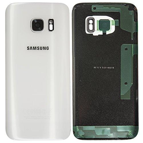 Original Samsung Akkudeckel white / weiß für Samsung G930F Galaxy S7 - (Akkufachdeckel, Batterieabdeckung, Rückseite, Back-Cover) - GH82-11384D