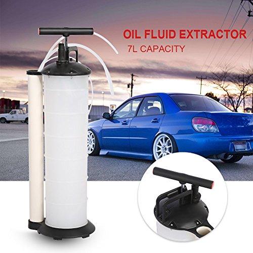 Bomba manual extractora de aceite, agua y otros líquidos del motor del coche con 4 mangueras