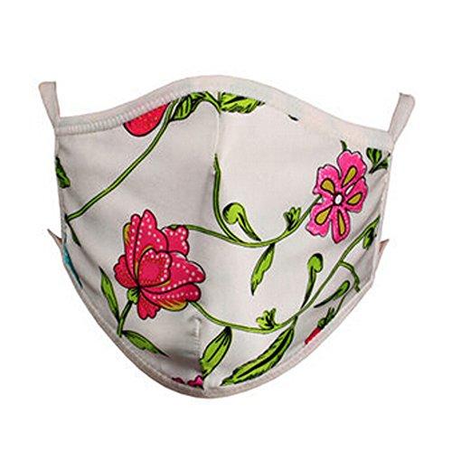 100% Maulbeerseide Staubdichtes Earloop Mund Gesichtsmaske, Random Blumenmuster