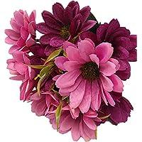 [Patrocinado]Live with Love Flor de seda artificial ideal para bodas, fiestas, hogar, decoración -Morado
