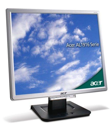 Acer AL1916NSD 48,3 cm (19 Zoll) TFT Monitor DVI (Kontrast dyn. 2000:1, 5 ms Reaktionszeit), schwarz/silber
