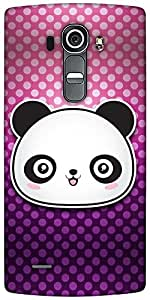 Snoogg Cute Panda Designer Protective Back Case Cover For LG G4