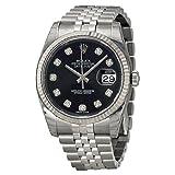 Rolex Uomo 36mm Bracciale & Contenitore acciaio inossidabile Saphire automatico quadrante nero Watches m116234–0083