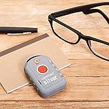 WESILVER - Localizador GPS para Adultos, Color Plata