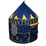 Magideal Childrens Pop-Up Castle Princess Play Tent PlayHouse Indoor Outdoor Boy Blue