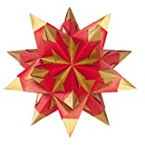 Folia Bascetta Stern Bastelset Duo-Papier 15x15cm, 30-teilig, hochrot/ gold