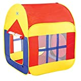 #5: Play Tent – Foldable Kid Play House With Convenient Carry Case for Easy Storage and Travel, Promotes Creativity, Imagination, Early Learning, Great Playhouse for Indoor/Outdoor For Toddlers Boys & Girls By Shuban- Red & Yellow Color