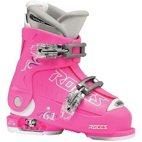 Roces Idea Scarponi da sci da bambino allungabili Mondopoint, Rosa scuro/bianco, 36-40 - 25 Scarponi Da Sci