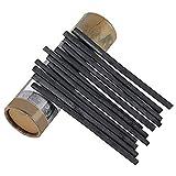 PPX Set di Carboncini per Disegni/Schizzi, Confezione da 25 Pezzi, Carboncino Nero, per Principianti, Bambini, Adulti, Artisti Amatoriali, Designer (5-8mm)