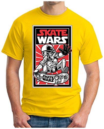 OM3 - SKATE-WARS - T-Shirt, S - 5XL Gelb