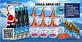 6er Mini Feuerzangenbowle Mega-Spar-Set incl. 40 Mini Zucker Hütchen