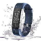 Fitness Tracker, AmyTech Aktivitätstracker mit intergrierter Herzfrequenzmessung Pulsuhr IP67 Wasserdicht Smart Armband für Android und IOS Smartphones (Blau)