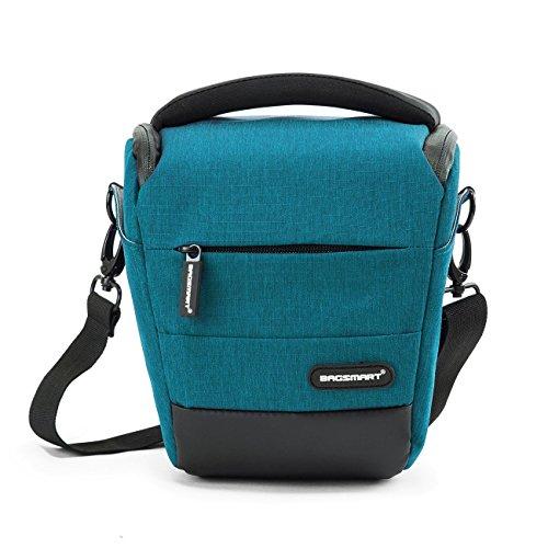 BAGSMART Kompakte SLR / DSLR Kameratasche mit Regenschutz Blau Deluxe Gadget Bag