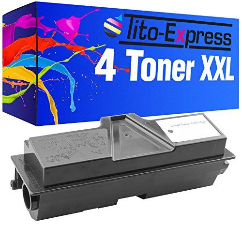 Preisvergleich Produktbild 4x Toner-Patrone XXL Schwarz für Kyocera Mita TK-160 FS-1120 FS-1120D FS-1120DN 32.000 Seiten PlatinumSerie