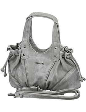TAMARIS BLONDIE Damen Handtasche, Handbag, Schultertasche, 33x21x18 cm (B x H x T), 2 Farben: grau oder denim...