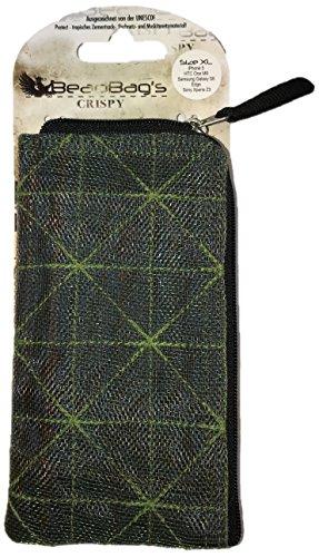 Beadbags Crispy - Nachhaltige Smartphonehülle für Apple iPhone 5 u.a. - individuell erstellt aus recycletem, tropischem Zementsackmaterial, Fair Trade, umweltschonend, strapazierfähig Dunkelgrün