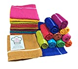 #9: the cotton chef soft cotton napkins absorbent skin friendly 9x9 inches light multicolor pack of 10