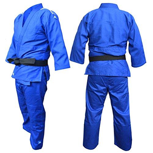 Adidas judogi j350 blu in polycotton 150