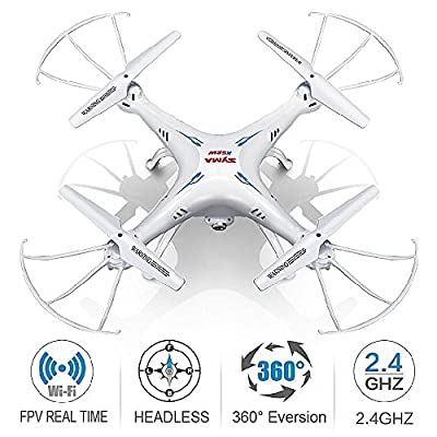 Syma Quadcopter Drone With Camera - X5SW/X5SW-1 Upgraded Version of X5C Explorers RTF Drone RC Airplane Flight UFO With 2.4GHz 6 Axis 4 Channel 3D FPV Quadcopter