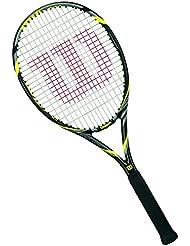 Wilson Pro Open 100 Tns W/O - Raqueta de tenis, color negro / amarillo, talla 3