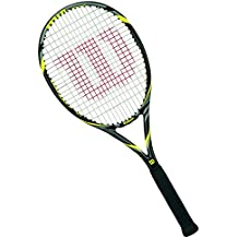 Wilson Pro Open 100 Tns W/O - Raqueta de tenis, color negro / amarillo, talla 2