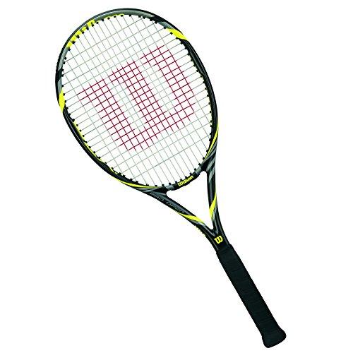 Wilson Pro Open 100 Tns Rkt W/O Cvr 3 Racchetta da Tennis, Nero/Giallo, 3