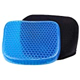 Qualimate Gel Seat Support Cushion Orthopedic for Back Pain, Hip, Tailbone, Coccyx