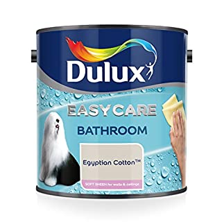 Dulux Easycare Bathroom Soft Sheen Emulsion Paint For Walls And Ceilings - Egyptian Cotton 2.5L