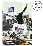 OXFORD 100738385 Sport Spirit Agenda Scolaire journalier 2019-2020 1 Jour par Page 352 pages 12x18 Skate