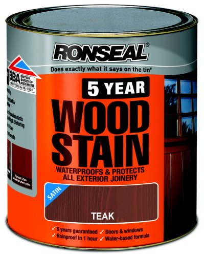 ronseal-5ywst25l-25l-5-year-woodstain-teak