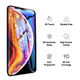 iPhone XS / X Screen Protector Tempered Glass (2 Packs), 9D Full Coverage Screen Protector, High Clarity, Anti Impact Scratch and Fingerprint