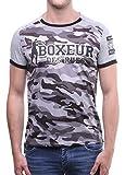 BOXEUR DES RUES Herren T-Shirt Bxe-2665D, Grigio (Grey Mel), Small