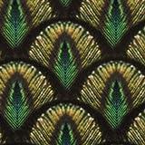 Samtstoff Dekostoff Italian Velvet Samt Pfau Federn grün goldfarbig 1,45cm