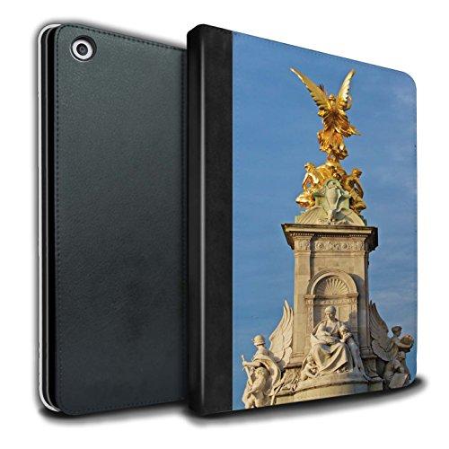 STUFF4 PU-Leder Hülle/Case/Brieftasche für Apple iPad 9.7 (2017) tablet / Victoria-Denkmal Muster / Seiten London Kollektion