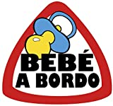 Pegatina Bebé a bordo 70x75 mm.