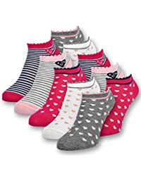 10 Paar Kinder Sneaker Socken Mädchen Kindersocken Baumwolle - 56270 - sockenkauf24