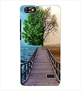 ColourCraft Illusion Design Back Case Cover for HUAWEI HONOR 4C