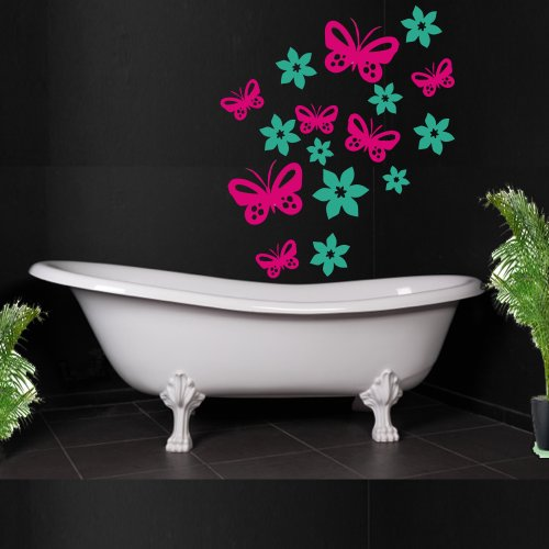 set-of-65-stickers-for-cars-bathroom-tiles-with-butterflies-and-flowers-design-choose-from-60-colour