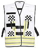 PACOTEX Funktionswesten zur Kennzeichnung von Einsatzpersonal wie z.B. Feuerwehr Warnweste (weiß schwarz kariert)