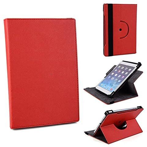 Kroo orbitix collection-world 's Einzigartiges Design mit Kamera Loch für Acer Iconia Tab 8A1–840FHD Universal Tablet Fällen rot rot