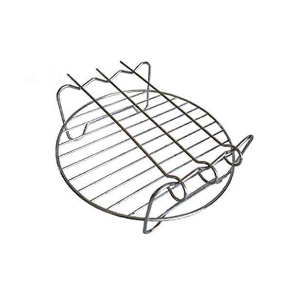 Universal Heiluftfritteuse Set Huihui 5 Stcke Heiluftfritteuse Zubehr Passen 3l Und Oben Backform Pizza Pan Grillrost Mit 3 Spieen Metall Halter Silikonmatte