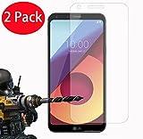 FoneExpert® 2 Pack - LG Q6 Verre Trempé, Vitre Protection Film de Protecteur d'écran Glass Film Tempered Glass Screen Protector pour LG Q6