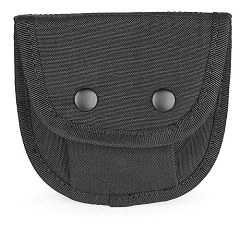ORA-TEC Etui für Handschuhe, Handschuhe Tasche in Schwarz, Security Etui für Dienstgürtel, Handschuheetui auch für Handschellen oder Fußschellen (Nylon 2 Dienstgürtel)