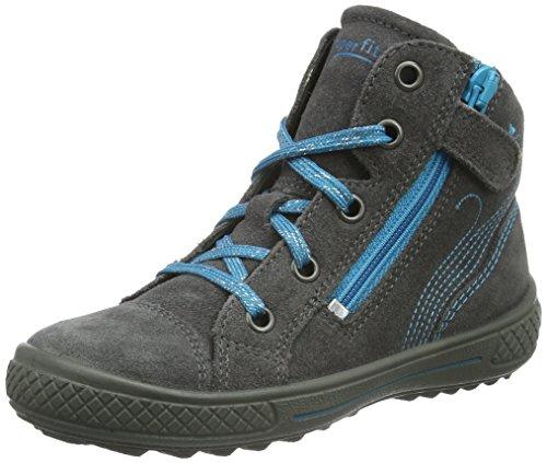 Superfit TENSY WINTER 700106, Mädchen Hohe Sneakers, Blau (OCEAN KOMBI 81) Grau (STONE KOMBI 06)